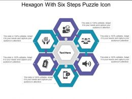 Hexagon With Six Steps Puzzle Icon