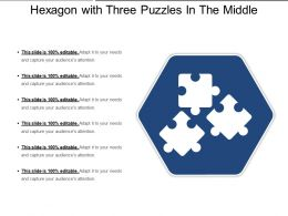 Hexagon With Three Puzzles In The Middle