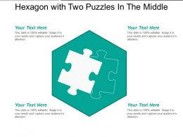Hexagon With Two Puzzles In The Middle