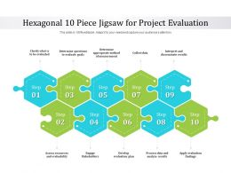 Hexagonal 10 Piece Jigsaw For Project Evaluation
