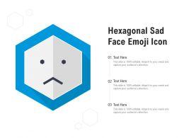 Hexagonal Sad Face Emoji Icon