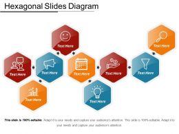 Hexagonal Slides Diagram PPT Examples Slides