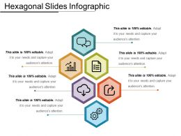 Hexagonal Slides Infographic Ppt Examples Professional