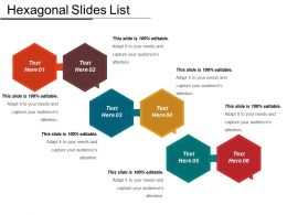 Hexagonal Slides List Ppt Sample Download