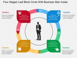 hf_four_staged_leaf_block_circle_with_business_man_inside_flat_powerpoint_design_Slide01