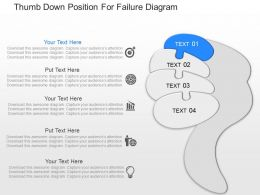 hf Thumb Down Position For Failure Diagram Powerpoint Template