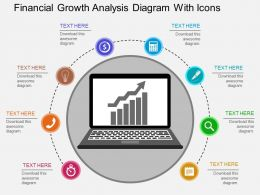hg Financial Growth Analysis Diagram With Icons Flat Powerpoint Design