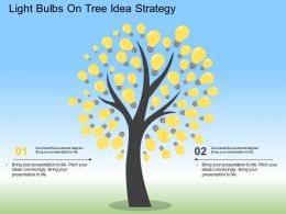 Hg Light Bulbs On Tree Idea Strategy Flat Powerpoint Design