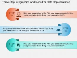 Hg Three Step Infographics And Icons For Data Representation Powerpoint Template