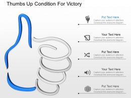 hg Thumbs Up Condition For Victory Powerpoint Template