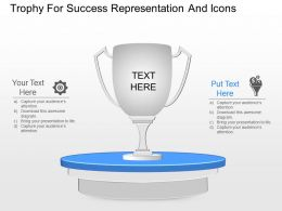 hh Trophy For Success Representation And Icons Powerpoint Template
