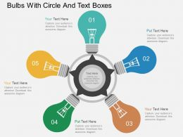 hi_bulbs_with_circle_and_text_boxes_flat_powerpoint_design_Slide01