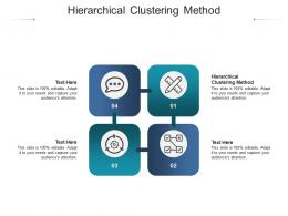 Hierarchical Clustering Method Ppt Powerpoint Presentation Pictures Examples Cpb