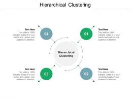Hierarchical Clustering Ppt Powerpoint Presentation Gallery Background Images Cpb