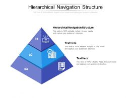 Hierarchical Navigation Structure Ppt Powerpoint Presentation Pictures Template Cpb