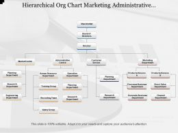 Hierarchical Org Chart Marketing Administrative Customer Service