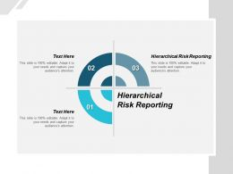 Hierarchical Risk Reporting Ppt Powerpoint Presentation Layouts Influencers Cpb