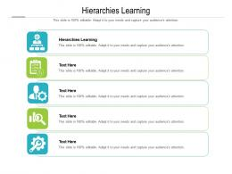 Hierarchies Learning Ppt Powerpoint Presentation Infographic Template Slide Cpb