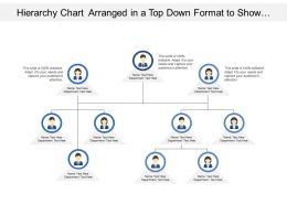 Hierarchy Chart Arranged In A Top Down Format To Show Organizational Structures
