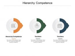 Hierarchy Competence Ppt Powerpoint Presentation Ideas Picture Cpb