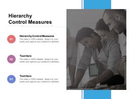 Hierarchy Control Measures Ppt Powerpoint Presentation Layouts Outline Cpb