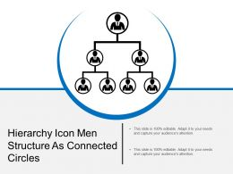 Hierarchy Icon Men Structure As Connected Circles
