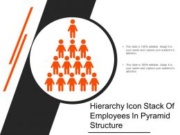 Hierarchy Icon Stack Of Employees In Pyramid Structure