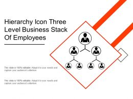 Hierarchy Icon Three Level Business Stack Of Employees