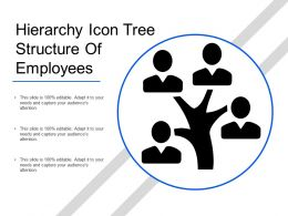 Hierarchy Icon Tree Structure Of Employees