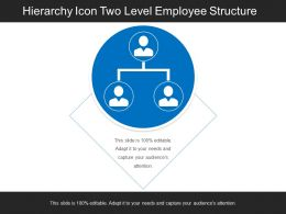 Hierarchy Icon Two Level Employee Structure
