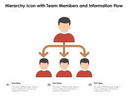 Hierarchy Icon With Team Members And Information Flow
