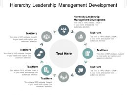 Hierarchy Leadership Management Development Ppt Powerpoint Presentation Professional Cpb