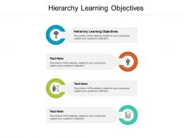 Hierarchy Learning Objectives Ppt Powerpoint Presentation Show Visuals Cpb
