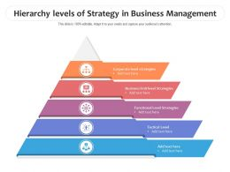 Hierarchy Levels Of Strategy In Business Management