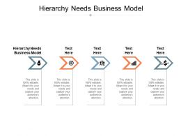 Hierarchy Needs Business Model Ppt Powerpoint Presentation Inspiration Shapes Cpb