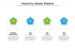 Hierarchy Needs Maslow Ppt Powerpoint Presentation Show Files Cpb