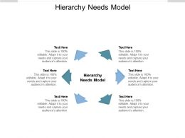 Hierarchy Needs Model Ppt Powerpoint Presentation Outline Professional Cpb