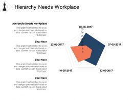 Hierarchy Needs Workplace Ppt Powerpoint Presentation Model Introduction Cpb