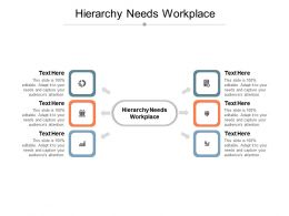 Hierarchy Needs Workplace Ppt Powerpoint Presentation Outline Icon Cpb