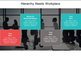 Hierarchy Needs Workplace Ppt Powerpoint Presentation Pictures Information Cpb