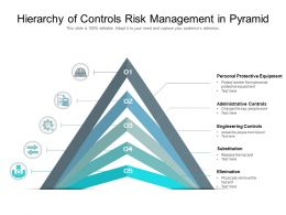 Hierarchy Of Controls Risk Management In Pyramid