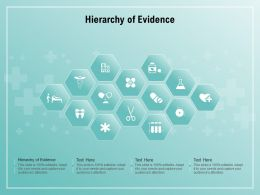 Hierarchy Of Evidence Ppt Powerpoint Presentation File Infographic Template