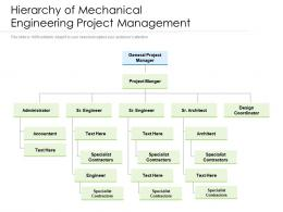 Hierarchy Of Mechanical Engineering Project Management