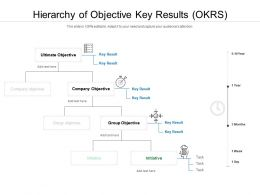Hierarchy Of Objective Key Results OKRS