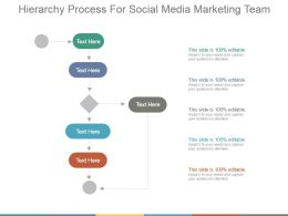 Hierarchy Process For Social Media Marketing Team Ppt Slide Show