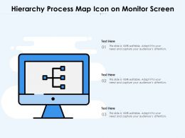 Hierarchy Process Map Icon On Monitor Screen