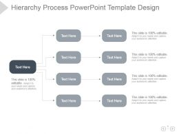 Hierarchy Process Powerpoint Template Design