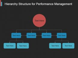 Hierarchy Structure For Performance Management Powerpoint Topics