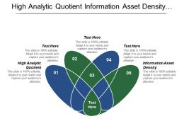 High Analytic Quotient Information Asset Density Frictionless Information Flows