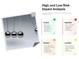 High And Low Risk Impact Analysis